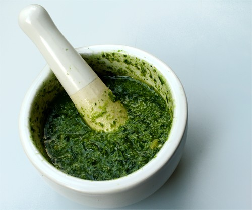 salsa de albahaca